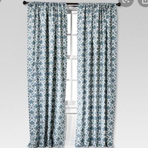 "Pair of 84"" Curtains"